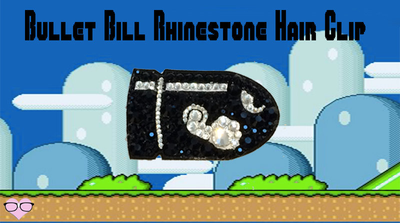 Bullet Bill Rhinestone Hair Clip
