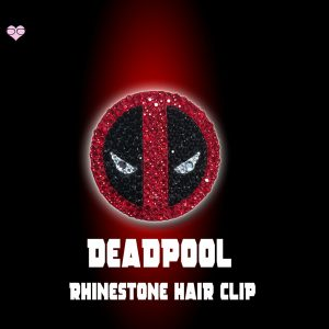 Deadpool Rhinestone Hair Clip