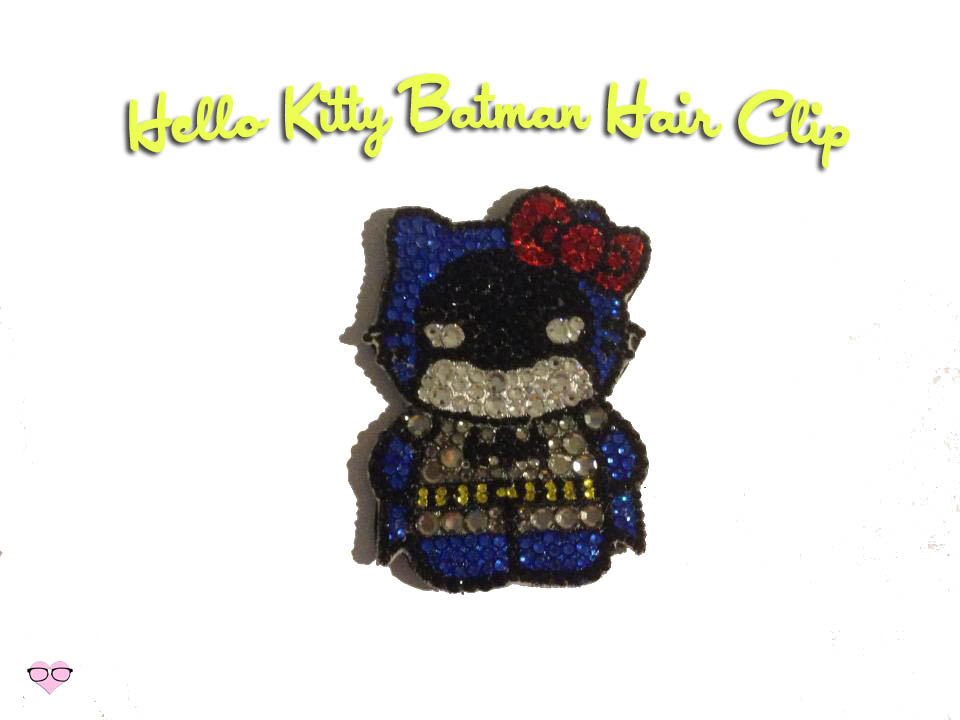 Hello Kitty Batman Rhinestone Hair Clip