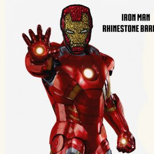 Iron Man Rhinestone hair clip