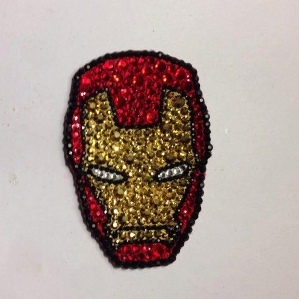 Iron Man Rhinestone hair clip