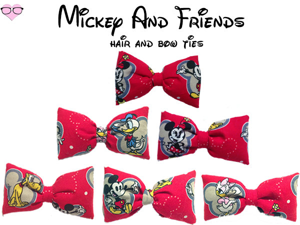 Mickey And Friends Hair and Bow Ties