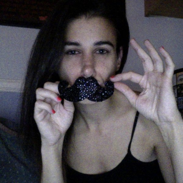 Mustache Rhinestone Hair Clip