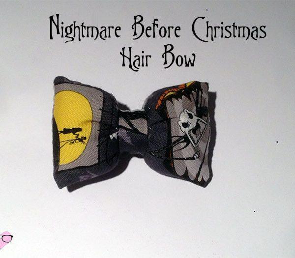Nightmare Before Christmas Hair bow