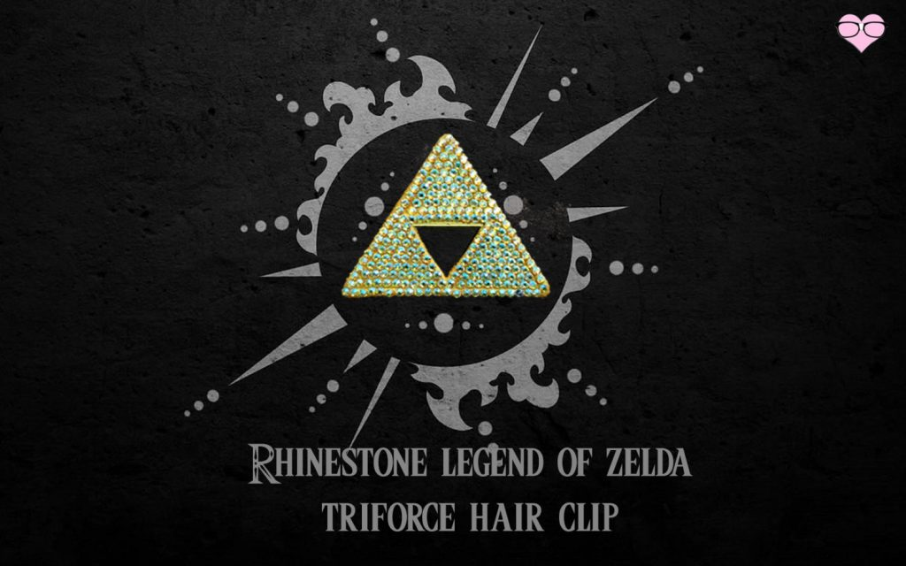 Rhinestone Legend Of Zelda Triforce hair clip