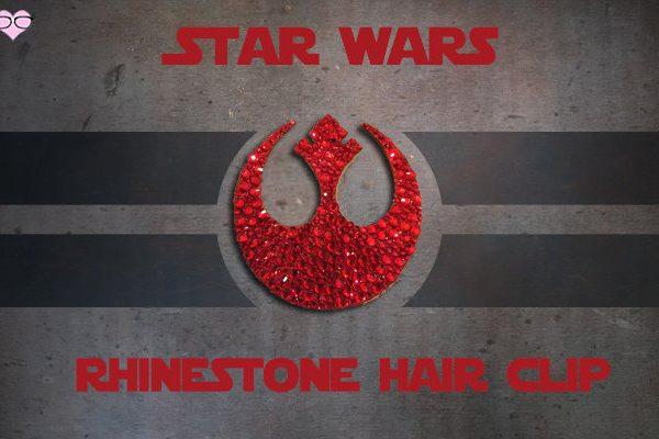 Star Wars Rhinestone Hair Clip