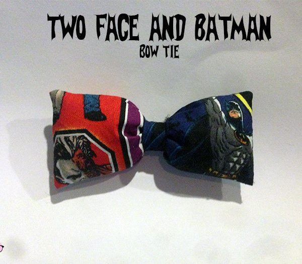 Two Face and Batman Bow Tie