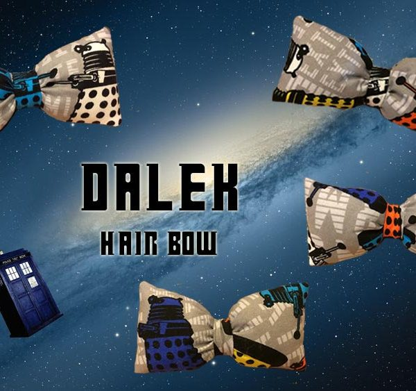 Dr. Who Dalek Hair Bow