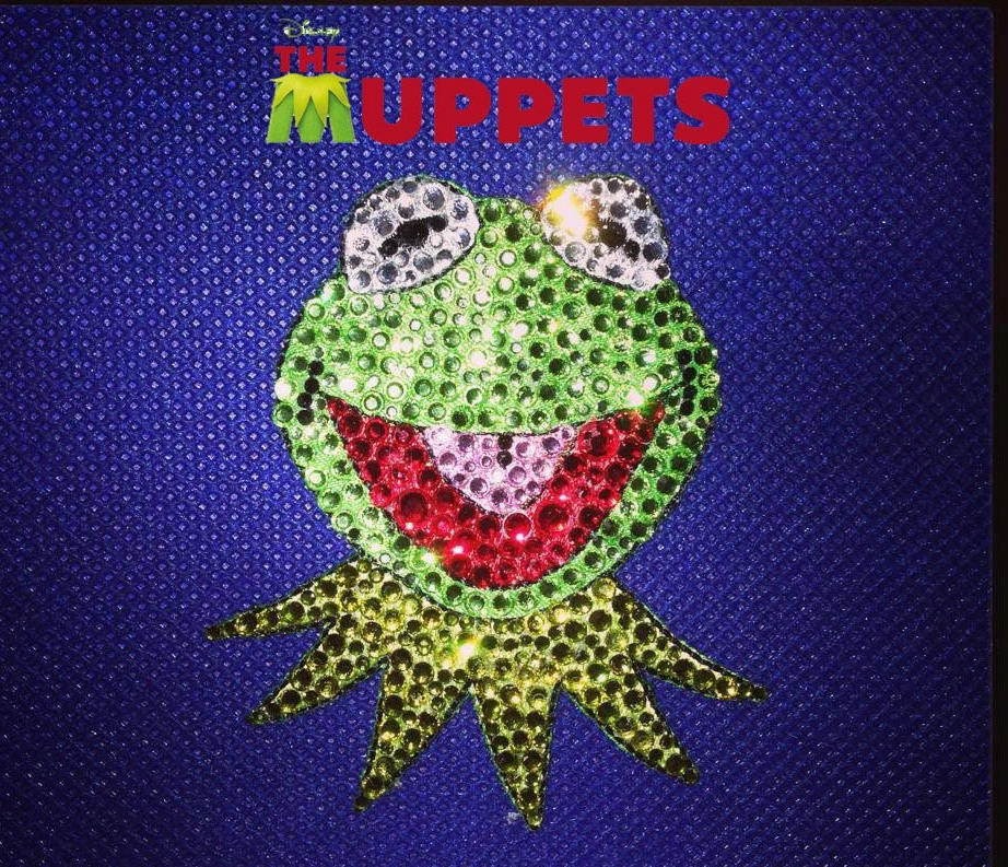 Kermit The Frog Rhinestone Hair Clip
