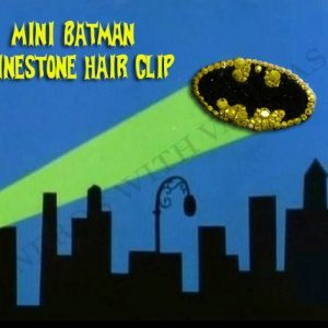 Mini Batman Rhinestone Hair Clip