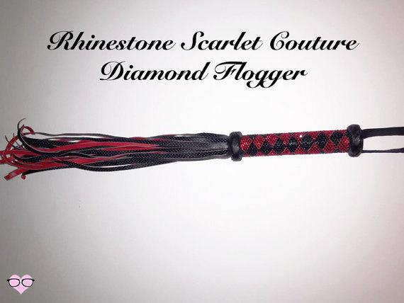 Rhinestone Scarlet Couture Diamond Flogger