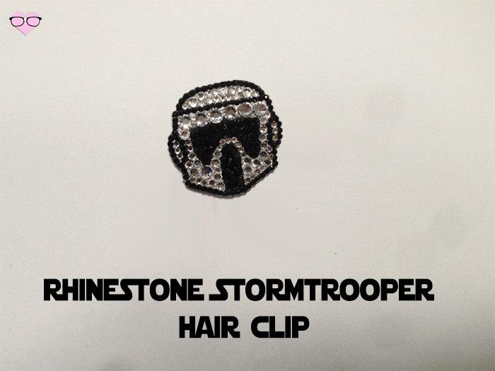 Rhinestone Stormtrooper Hair Clip