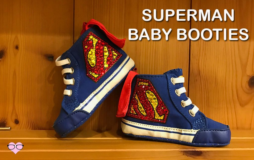 Superman Baby Booties