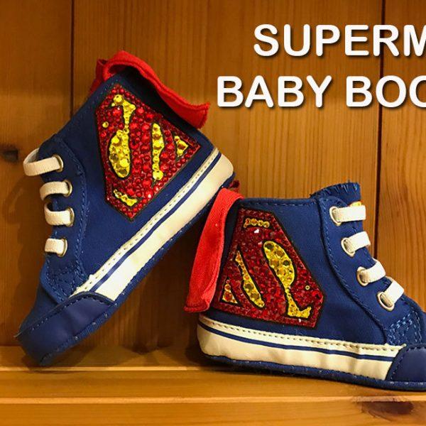 Superman Baby Booties
