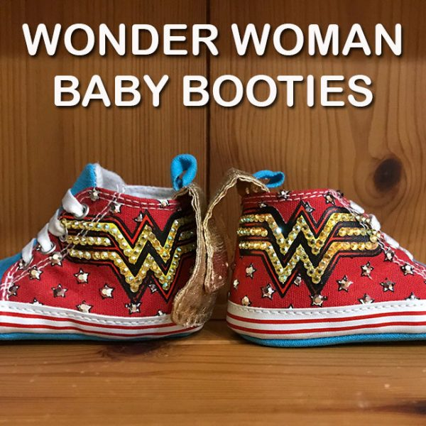 Wonder Woman Baby Booties