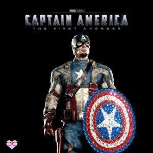 Captain America SHIELD Rhinestone Hair Clip